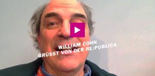 William Cohn sendet Grüße von der re:publica