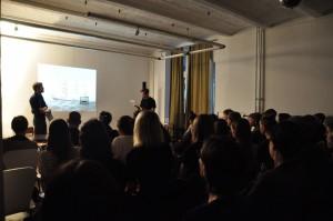 Lecture-Performamce mit Lotz und Köck Wolfram Lotz und Hannes Becker © Michaela Frey