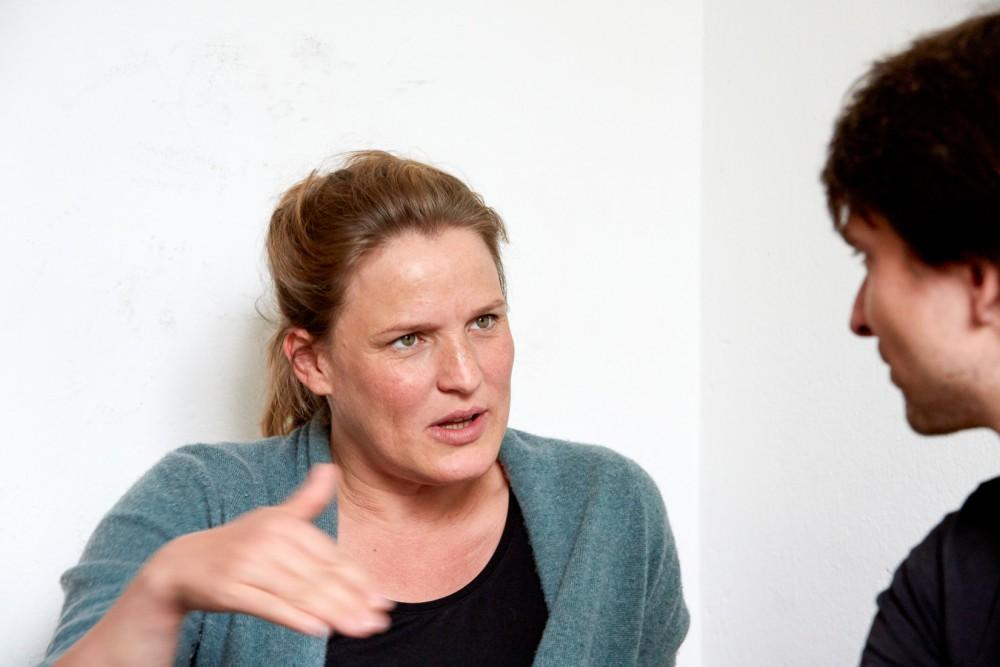 Anna-Sophie Mahler im Gespräch mit Falk Rößler; Foto: © Judith Buß