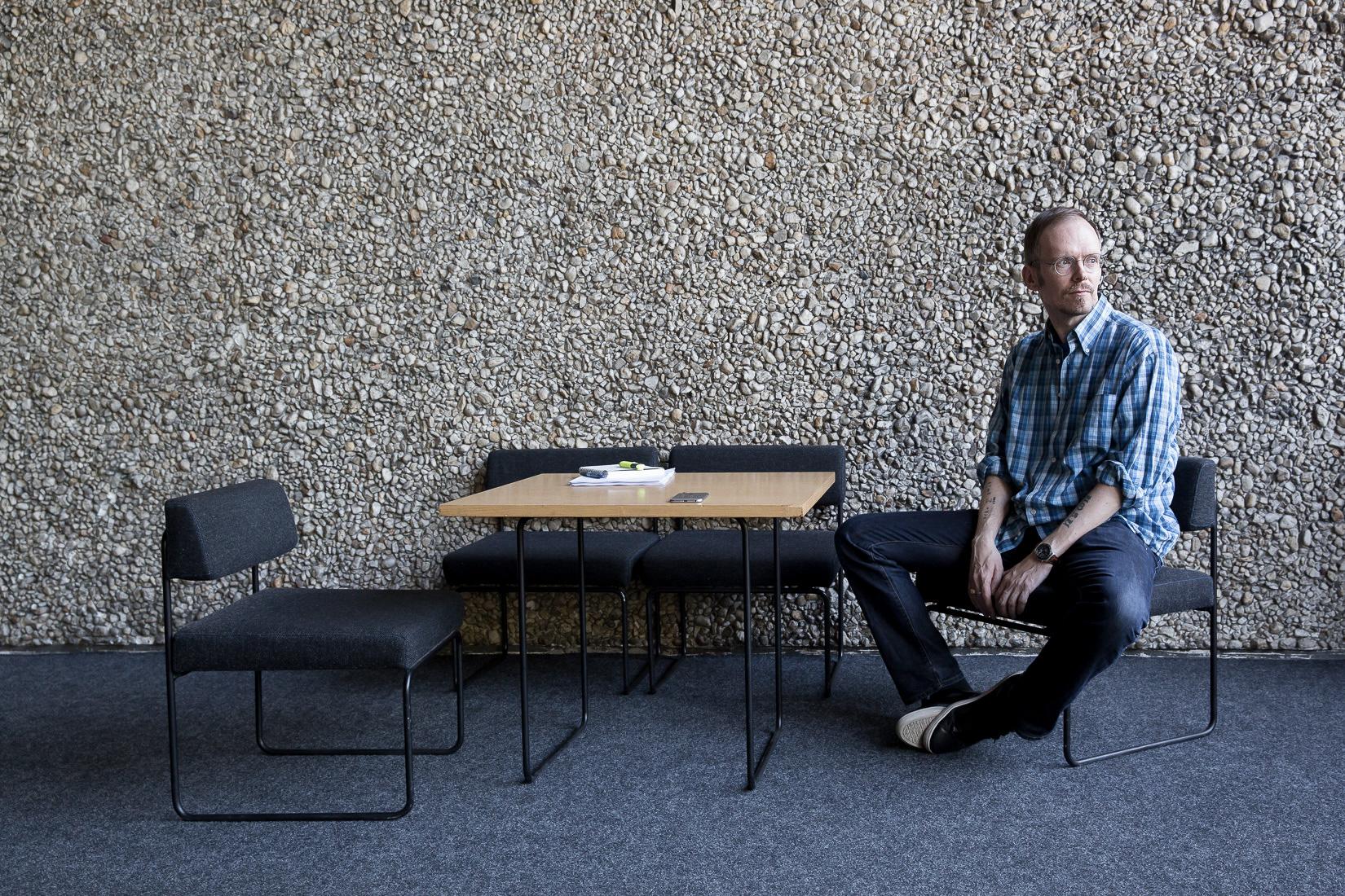 Dietmar Dath im Haus der Berliner Festspiele. Foto © Judith Buss