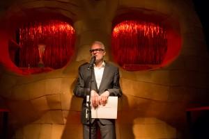 """Herbert Fritsch auf der Premierenfeier zu """"der die mann"""". Foto (c) Judith Buss"""